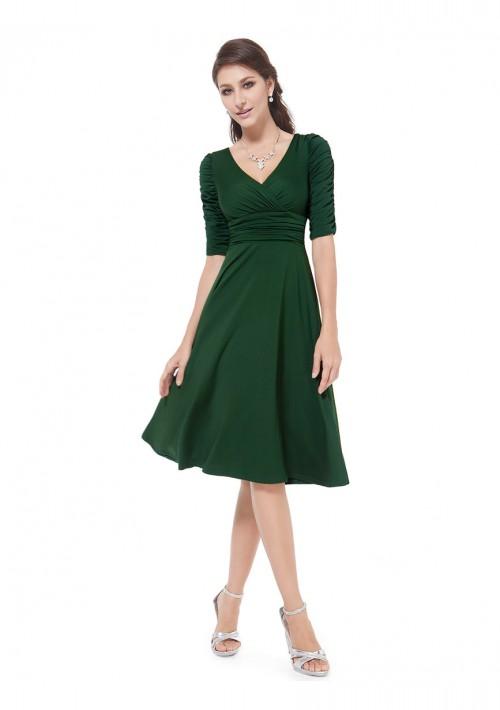Chiffon Cocktailkleid in Grün - günstig bei VIP Dress