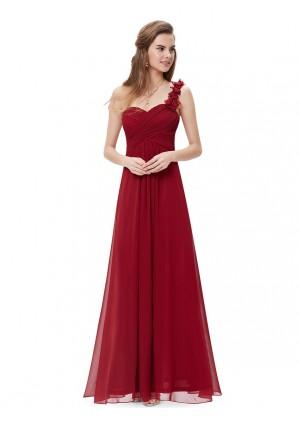 Langes One-Shoulder Abendkleid Rot - online bestellen bei vipdress.de