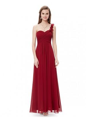 Langes One-Shoulder Abendkleid Rot - bei VIP Dress online bestellen