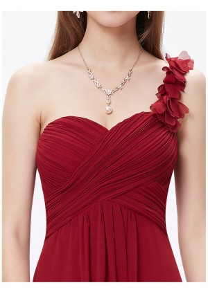 Langes One-Shoulder Abendkleid Rot - günstig kaufen bei vipdress.de