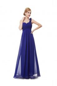 Luxeriöses langes One-Shoulder Abendkleid in Blau