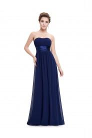 Blaues langes Bandeau Abendkleid