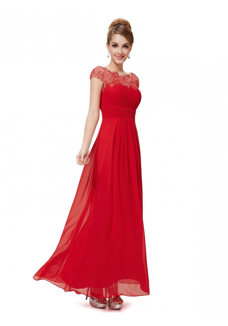 Rotes abendkleid mit spitze - Rotes abendkleid lang ...
