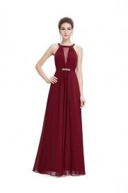 Trägerloses langes Abendkleid in verführerischem Bordeaux Rot