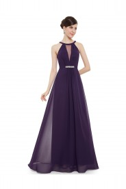 Elegantes langes Abendkleid in Lila
