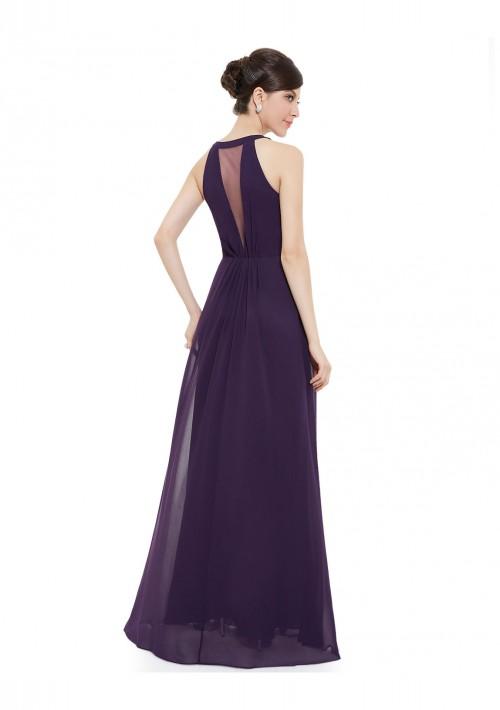 Elegantes langes Abendkleid in Lila - günstig kaufen bei vipdress.de