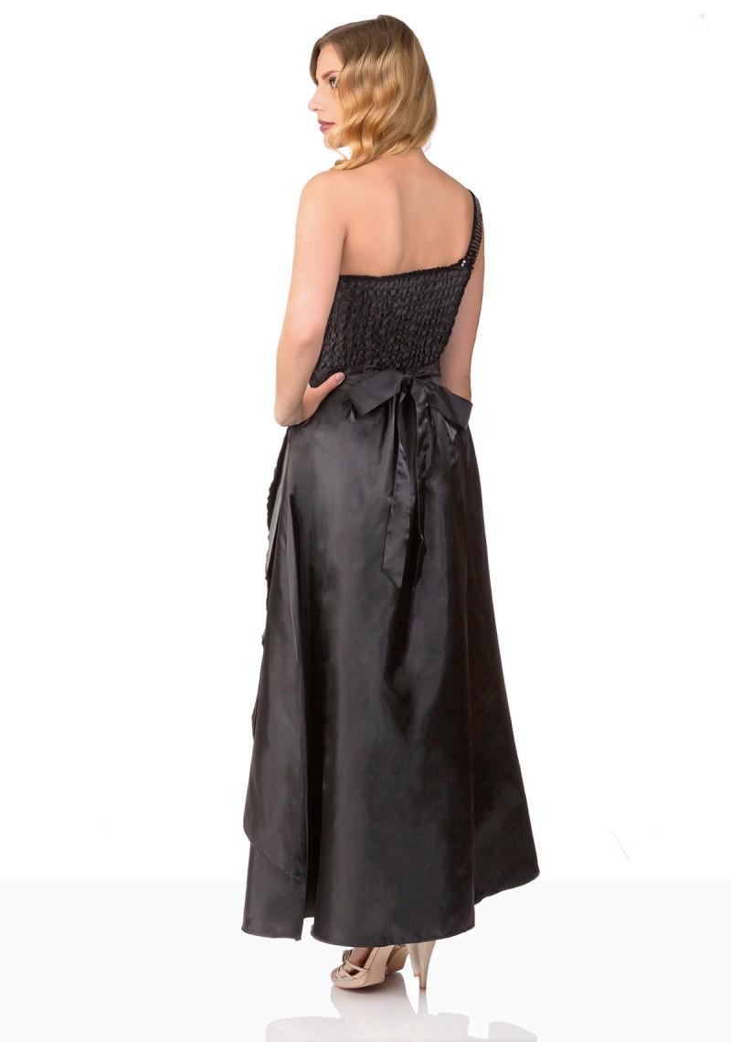 Langes Abendkleid in Schwarz günstig online kaufen ✮