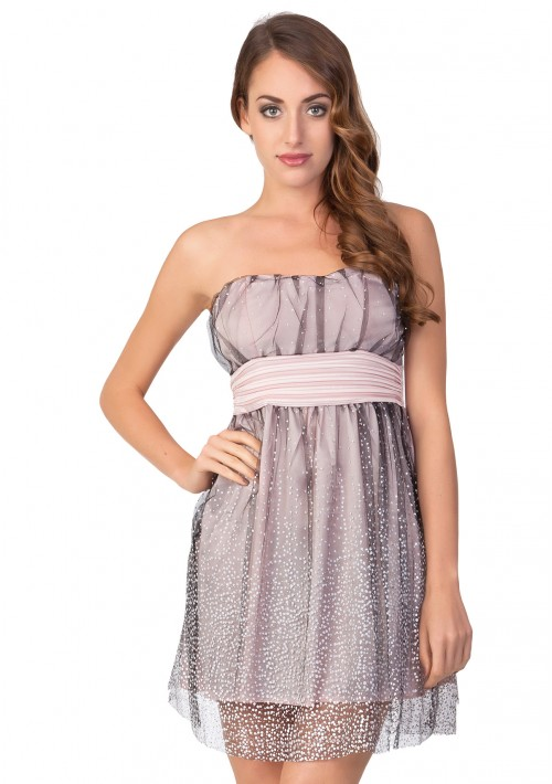 Chiffon Abendkleid in Rosa - bei VIP Dress online bestellen