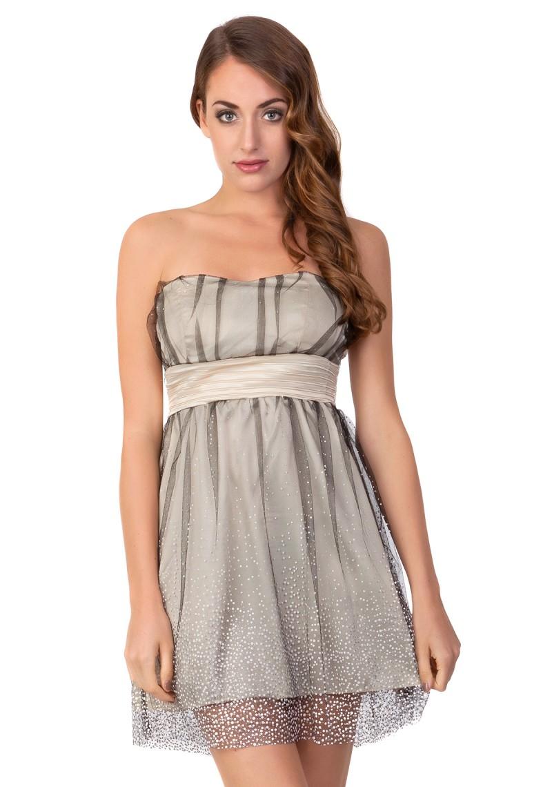 Abendkleid in Beige günstig online kaufen - vipdress.de ♥