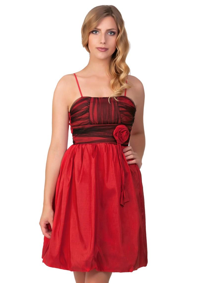 Partykleid in leuchtendem Rot günstig online kaufen