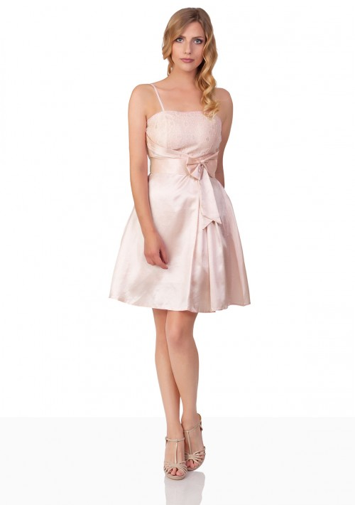 Abiballkleid mit Blumenstickereien in Rosa - günstig bei VIP Dress