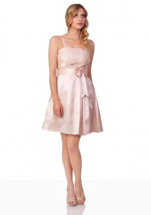 Abiballkleid mit Blumenstickereien in Rosa - schnell und günstig bei VIP Dress