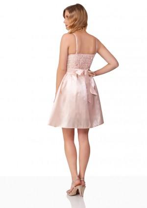 Abiballkleid mit Blumenstickereien in Rosa - bei vipdress.de günstig shoppen
