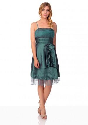 Cocktailkleid in Grün mit Satin und Tüll  - bei VIP Dress günstig kaufen