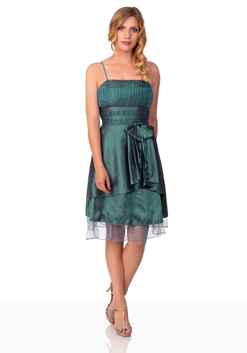 Festliches Abendkleid mit einer tollen Schleife in Grün