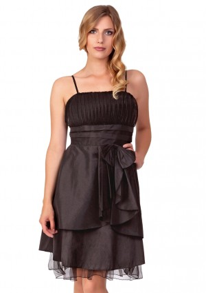 Schwarzes Cocktailkleid mit Lagenoptik und Tüllbesatz - <br /> <b>Notice</b>:  Undefined index: altTail in <b>/home/vipdress/public_html/tools/smarty/compile/3a21d04bf1b909ed03be781795539a91ac65494e.file.product.tpl.php</b> on line <b>264</b><br />