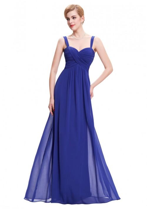 Langes Abendkleid in Blau ohne Ärmel - günstig bei VIP Dress