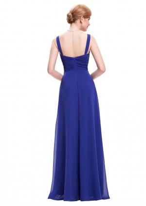 Langes Abendkleid in Blau ohne Ärmel - günstig kaufen bei vipdress.de