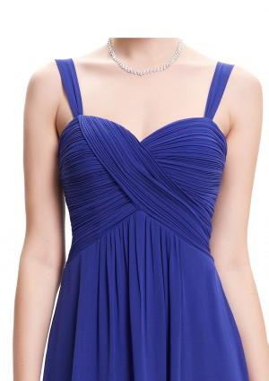 Langes Abendkleid in Blau ohne Ärmel - günstig shoppen bei vipdress.de