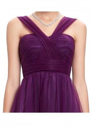 Bodenlanges Träger-Abendkleid in Flieder - bei VIP Dress online bestellen