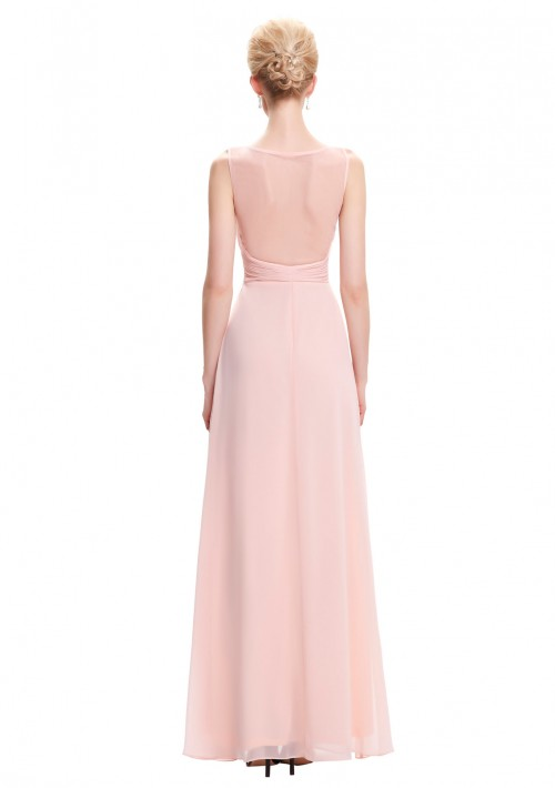 Langes Chiffon Abendkleid in Rosa - bei VIP Dress online bestellen