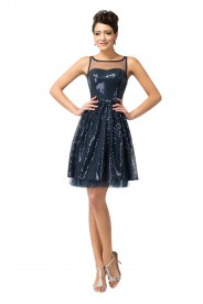 Extravagantes, kurzes Party- und Abendkleid in Navy Blau