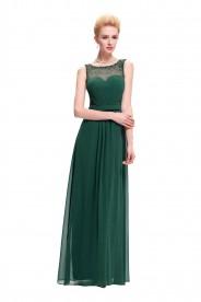 Langes Abendkleid aus grünen Chiffon