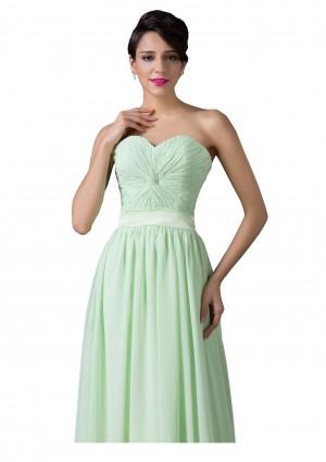 Trägerloses, langes Abendkleid in verträumten Mintgrün - günstig bestellen bei VIP Dress
