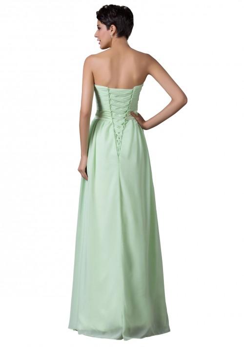 Trägerloses, langes Abendkleid in verträumten Mintgrün - online bestellen bei vipdress.de
