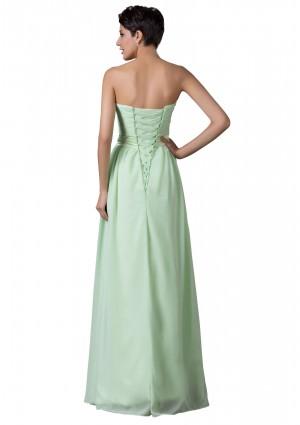 Trägerloses, langes Abendkleid in verträumten Mintgrün - schnell und günstig bei VIP Dress