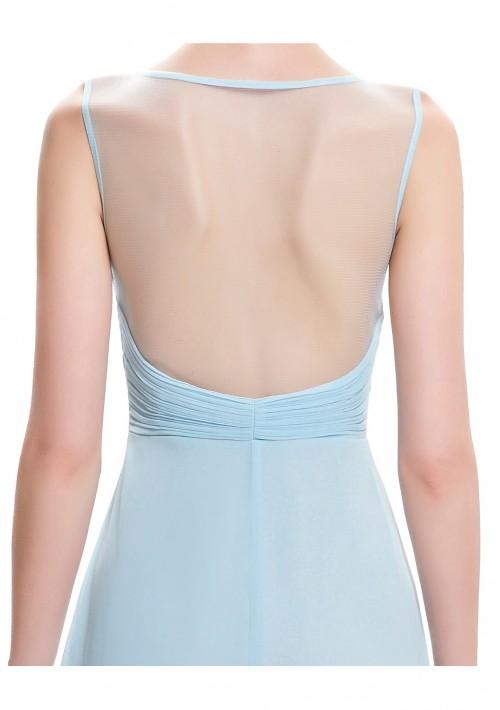 Trägerloses, langes Abendkleid in dezentem Hellblau - günstig bestellen bei VIP Dress