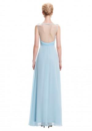 Trägerloses, langes Abendkleid in dezentem Hellblau - günstig bei VIP Dress