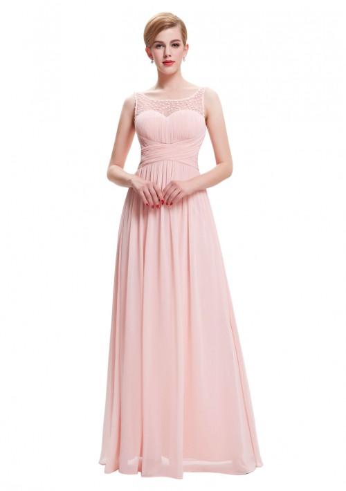 Langes Träger-Abendkleid in Rosa - günstig bei VIP Dress