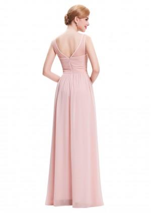 Langes Träger-Abendkleid in Rosa - hier günstig online bestellen