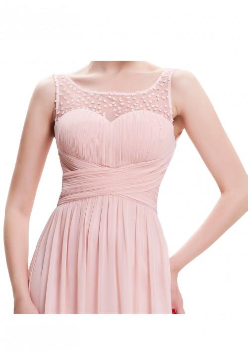Langes Träger-Abendkleid in Rosa - bei VIP Dress online bestellen