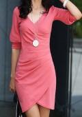 Minikleid / Business Kleid Lachs / Rosa Gr XS - S 34-36