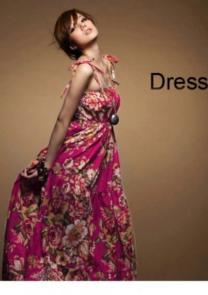 Sommerliches, langes Kleid im Flower-Power-Look - online bestellen bei vipdress.de