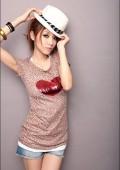 Leoparden T-Shirt in Rosa mit Herz