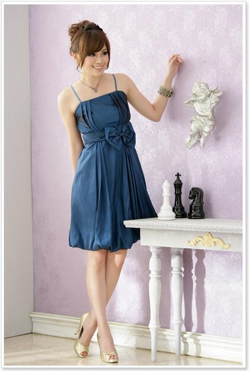 satin ballkleid in blau mit ballonrock online kaufen. Black Bedroom Furniture Sets. Home Design Ideas