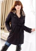 Moderner Mantel Jacke Damenjacke Damenmantel Kapuzenjacke Schwarz Beige Grün