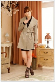 Schicker Trenchcoat in Khaki für Damen
