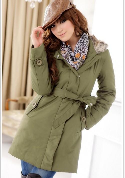 Schicker Mantel für Damen Grün - online bestellen bei vipdress.de
