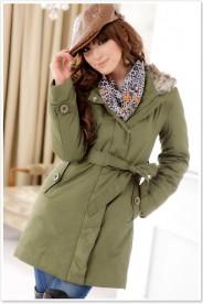 Schicker Mantel für Damen Grün