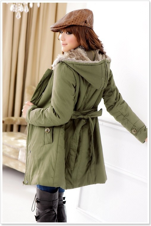 moderner mantel jacke damenjacke damenmantel kapuzenjacke gr n. Black Bedroom Furniture Sets. Home Design Ideas