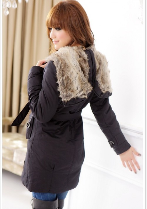 Moderner Damenmantel in Schwarz - günstig bei VIP Dress