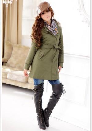 Schicker Mantel für Damen Grün - günstig bei VIP Dress