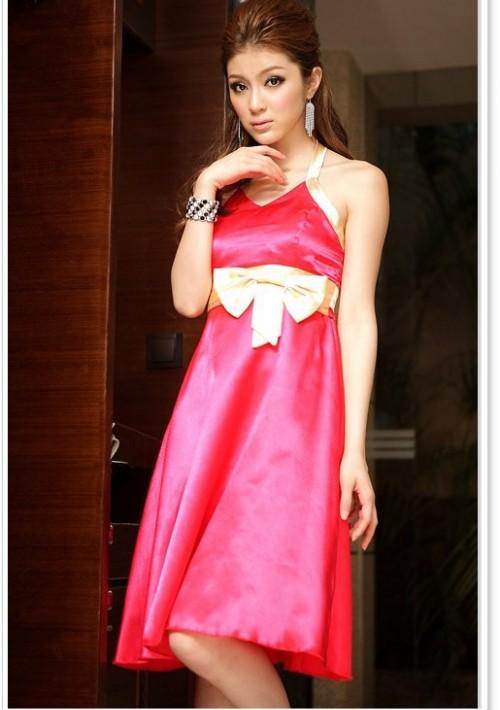 Neckholder-Cocktailkleid in Rosa  - günstig bei VIP Dress