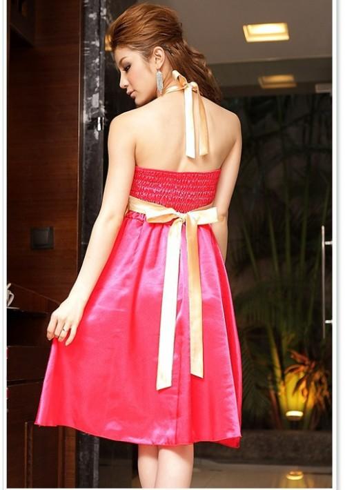 Neckholder-Cocktailkleid in Rosa  - günstig bestellen bei VIP Dress