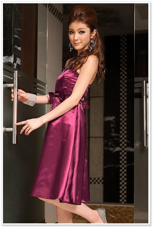 Satin-Cocktailkleid in Lila online kaufen ❤