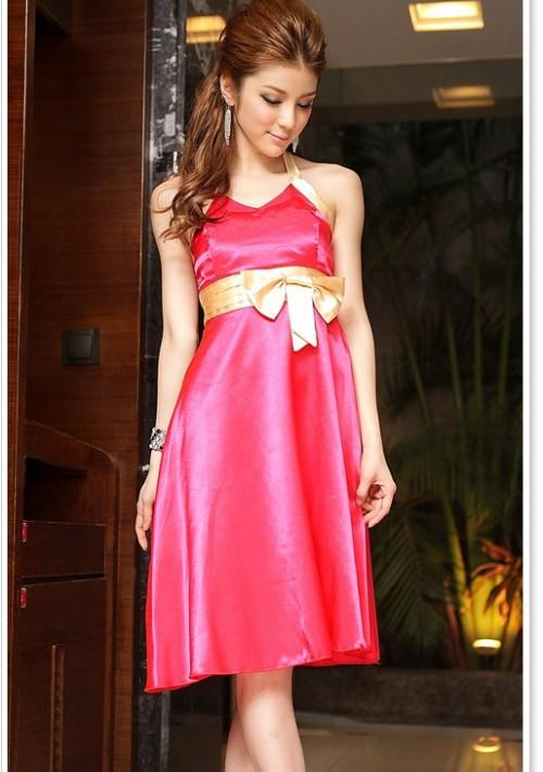 Neckholder-Cocktailkleid in Rosa  - bei VIP Dress online bestellen